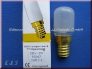 Glühbirne mit Schraubverschluß 235Volt / 15W / E14