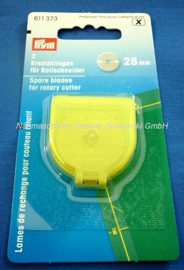 Ersatzklingen für Rollschneider Prym 28 mm Durchmesser mini (2Stück)