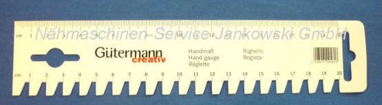 Handmaß Saummaß Gütermann 20 cm