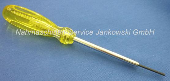 Schraubendreher OV (Inbus 1,6mm) für Nadelbefestigungsschraube PFAFF Hobbylock 794 , 795 , 796